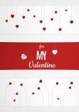 Tarjeta o fondo múltiple del extracto del día de tarjeta del día de San Valentín con el corazón y el texto de papel cortados libre illustration