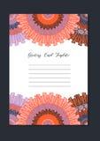 Tarjeta oriental de la plantilla de la mandala Fotos de archivo