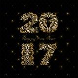 Tarjeta ornamental del Año Nuevo Fotografía de archivo