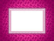 Tarjeta ornamental rosada stock de ilustración