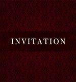 Tarjeta oscura retra de la invitación Imágenes de archivo libres de regalías