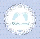 Tarjeta para el bebé Foto de archivo libre de regalías