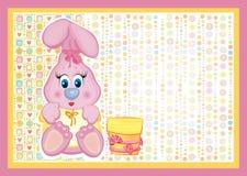 Tarjeta para el bebé Imagen de archivo libre de regalías