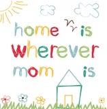 Tarjeta para el día de madre ilustración del vector