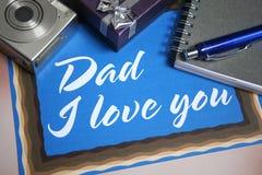 Tarjeta para el día de padre foto de archivo libre de regalías