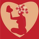Tarjeta para el día de tarjeta del día de San Valentín Foto de archivo libre de regalías