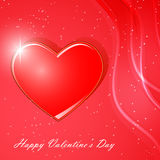 Tarjeta para el día de tarjeta del día de San Valentín Fotos de archivo