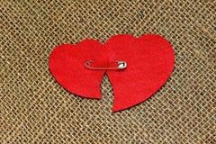 Tarjeta para el día de tarjeta del día de San Valentín en estilo retro Imagen de archivo