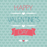 Tarjeta para el día de tarjeta del día de San Valentín tipografía Imagenes de archivo