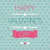 Tarjeta para el día de tarjeta del día de San Valentín tipografía Efecto del Grunge Imagen de archivo libre de regalías