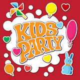 Tarjeta para el partido de los niños Foto de archivo libre de regalías