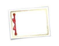 Tarjeta para la invitación o la enhorabuena al día de fiesta Imagenes de archivo