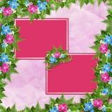 Tarjeta para la invitación o la enhorabuena con las orquídeas Imagen de archivo
