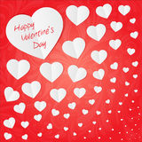 Tarjeta para la tarjeta del día de San Valentín Imagenes de archivo