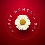 Tarjeta para mujer del día Imagenes de archivo