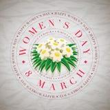 Tarjeta para mujer del día Fotografía de archivo libre de regalías
