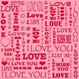 Tarjeta para Valentine& x27; día de s fotografía de archivo