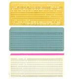 Tarjeta perforada de la vendimia Imagen de archivo libre de regalías
