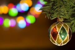 Tarjeta por Año Nuevo y la Navidad Fotos de archivo libres de regalías