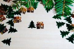 Tarjeta por Cristmas y Año Nuevo imagen de archivo libre de regalías