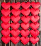 Tarjeta por un día del ` s de la tarjeta del día de San Valentín Foto de archivo libre de regalías