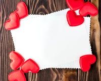 Tarjeta por un día del ` s de la tarjeta del día de San Valentín Fotos de archivo