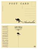 Tarjeta postal de Australia ilustración del vector