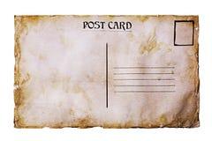 Tarjeta postal del viejo grunge Imagen de archivo libre de regalías