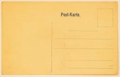 Tarjeta postal vieja para poner mensajes y direcciones backside Textura (de papel) arrugada Con el lugar su texto, uso del fondo imagenes de archivo