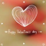 Tarjeta preciosa de la tarjeta del día de San Valentín Ilustración del vector Fotografía de archivo libre de regalías