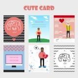 Tarjeta preciosa para el día de tarjeta del día de San Valentín Imagenes de archivo