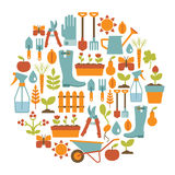 Tarjeta que cultiva un huerto libre illustration