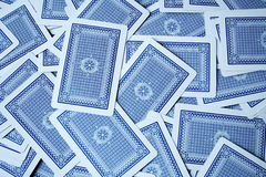 Tarjeta que juega Imagen de archivo libre de regalías