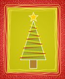 Tarjeta rústica del árbol de navidad Imagen de archivo libre de regalías