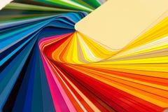 Tarjeta RAL del color imágenes de archivo libres de regalías