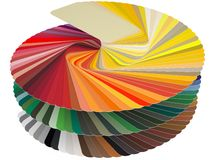 Tarjeta RAL del color ilustración del vector