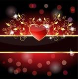 Tarjeta real del corazón Foto de archivo libre de regalías