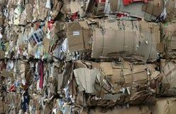Tarjeta reciclada imagen de archivo