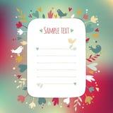 Tarjeta rectangular hermosa de Greating del instagram Fotografía de archivo libre de regalías