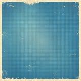 Tarjeta retra azul punteada tono medio Foto de archivo libre de regalías