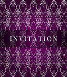 Tarjeta retra de la invitación Imagenes de archivo