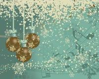 Tarjeta retra de la Navidad (Año Nuevo) Fotografía de archivo