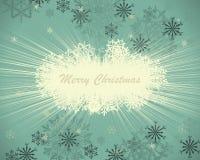 Tarjeta retra de la Navidad (Año Nuevo) Imagen de archivo libre de regalías