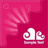 Tarjeta retra de la tarjeta del día de San Valentín Fotos de archivo libres de regalías