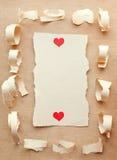 Tarjeta retra de la vendimia. Día de tarjeta del día de San Valentín feliz Imagen de archivo libre de regalías