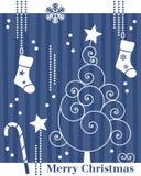 Tarjeta retra del árbol de navidad [2] libre illustration