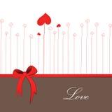 Tarjeta retra para el día de la boda o de tarjeta del día de San Valentín ilustración del vector