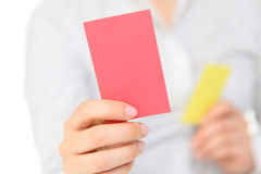 Tarjeta roja Imagen de archivo