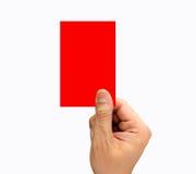 Tarjeta roja Imagen de archivo libre de regalías