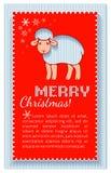 Tarjeta roja acodada la Navidad Imagen de archivo libre de regalías